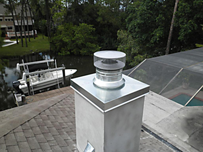 Gas Fireplace Chimney Caps : Chimney caps and venting options florida fireplace systems